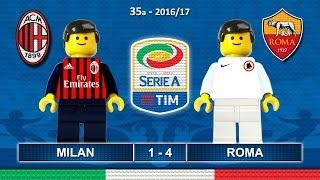 Milan Roma 1-4 • Serie A 2017 (07/05/2017) Highlights sintesi Lego Calcio