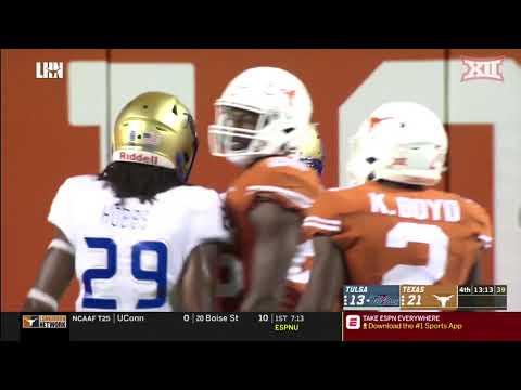 Texas Vs. Tulsa Football Highlights