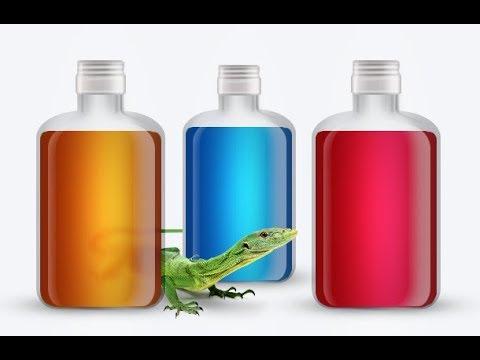 Рисуем стеклянные бутылки в фотошопе с нуля