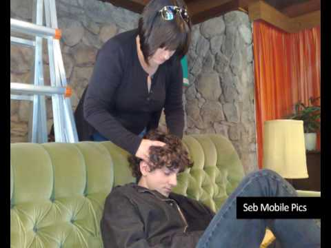 Accidents Happen: Sebastian Gregory on the set of Accidents Happen