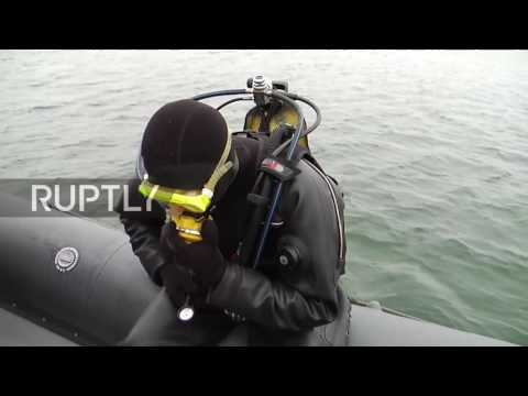 Russia: Naval troops open fire using underwater machine guns in Kaliningrad drills