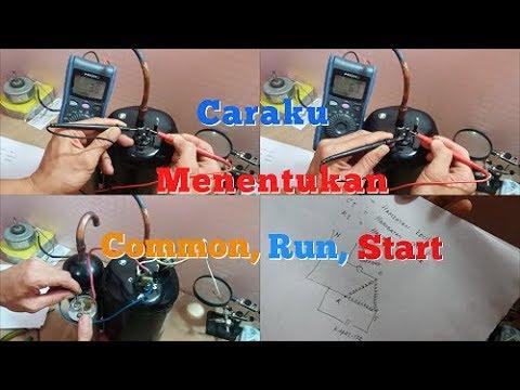 Cara Menentukan Common, Run ,Start pada Compresor AC