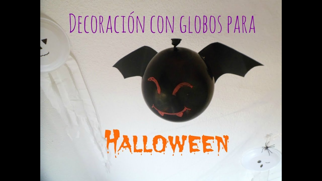 Manualidades infantiles decoraci n diy con globos para for Decoracion de halloween
