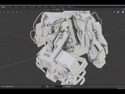 Robot Making (partial) Speed Modeling - Grid Modeler (blender addon)