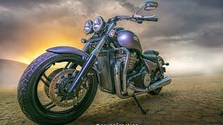Photoshop Tutorial | Photo Manipulation of Triumph Thunderbird with Amazing light Effects