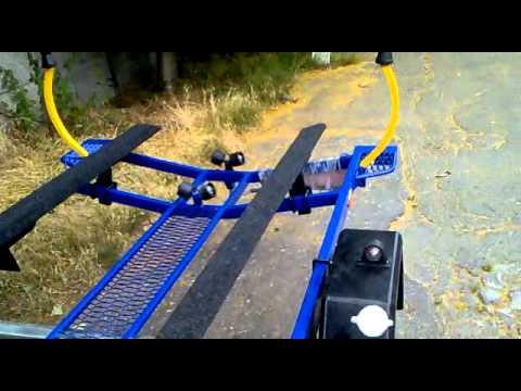 МЗСА 81771Е.101-05 - Лодочный прицеп на роликах. Ворота лодочного .