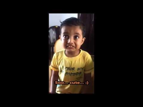 Cute little boy from Bangalore... watch till end... very cute ...