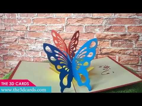 3D Popup Cards ButterFly