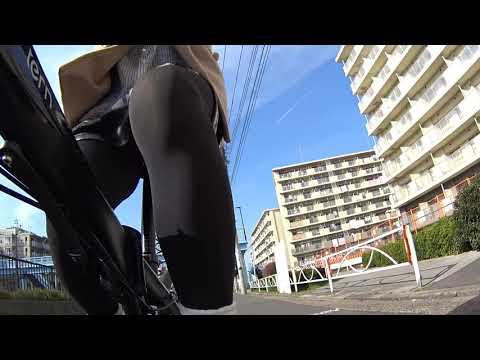 ミニスカ自転車とちょっとスカイツリー