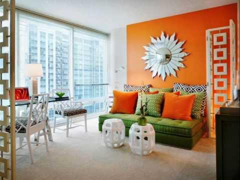 Blue Green Orange Living Room