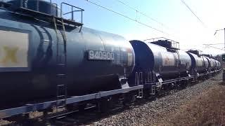 추풍령 고개를 넘나드는 화물열차 영상