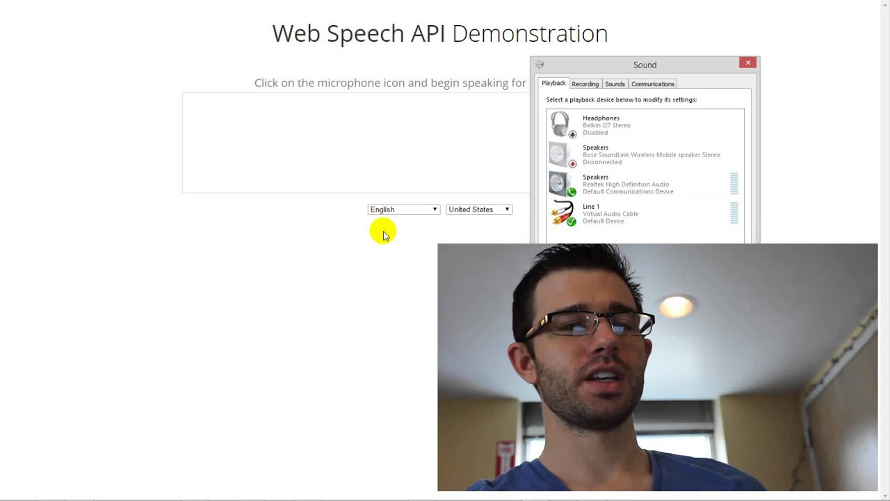 Speech to Text with Google Web Speech API