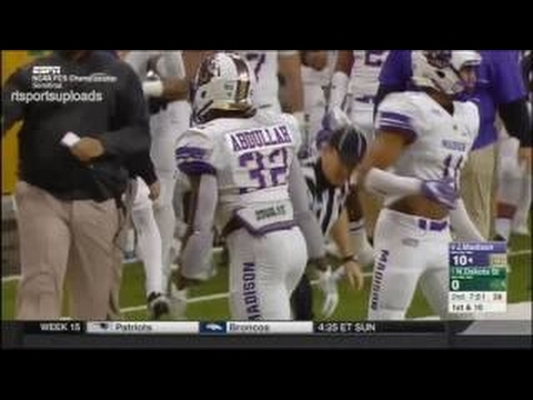James Madison vs North Dakota State SEMIFINAL 2016 FCS Football