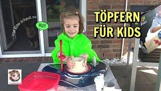 TÖPFERN FÜR KINDER 🎨 Unsere kleine Töpferwerkstatt ⚱️ 5-Jährige töpfert zum 1. Mal | Color Kids