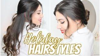 2 acconciature facili e veloci per le feste   2 easy holiday hairstyles 2016   capellipantene