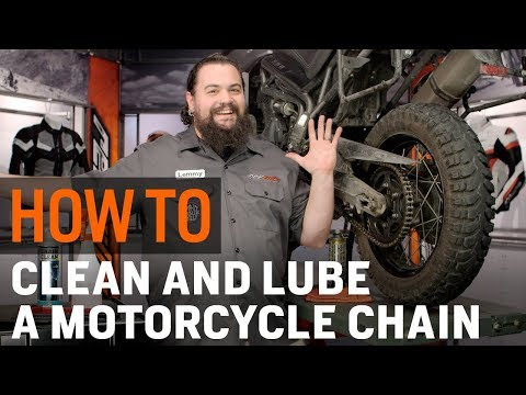 Cleaning and Lubing your chain