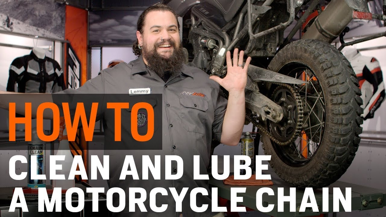 How To Clean & Lube Your Motorcycle Chain at RevZilla com