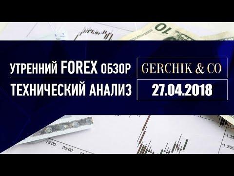 ⚡ Технический анализ основных валют 27.04.2018 | Утренний обзор Форекс с GERCHIK & CO.