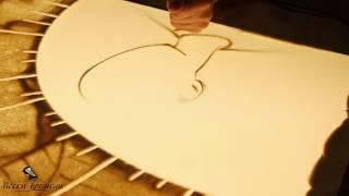 Рисование песком на стекле мастер класс. Песочная анимация уроки. Песочное шоу головы человека
