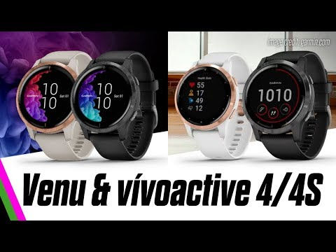 Garmin vívoactive 4/4S & Venu GPS Smartwatches Announced!