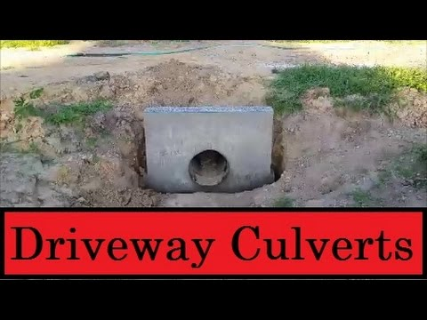 Installing Driveway Culverts Youtube