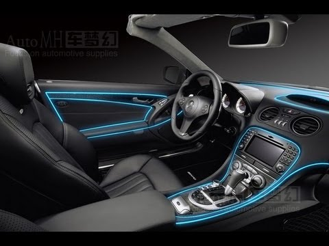 tron bike glow el wire tube car motorcycle decorate test youtube. Black Bedroom Furniture Sets. Home Design Ideas
