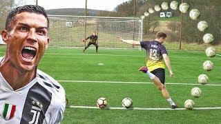 CRISTIANO RONALDO FOOTBALL CHALLENGES • KONZI vs MICHI