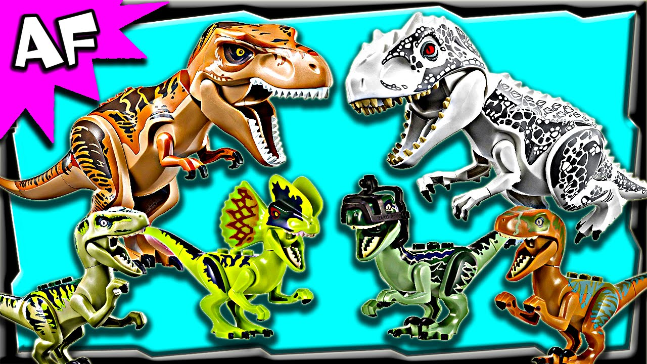 Lego Jurassic World Minifigures Dinos Complete Collection 2015