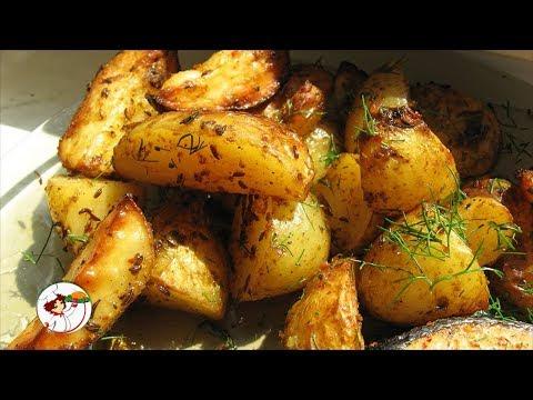 Молодой картофель по-деревенски. Самый легкий способ приготовления.