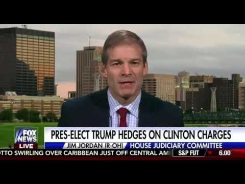 Jim Jordan Reacts To Donald Trump On Clinton Investigations