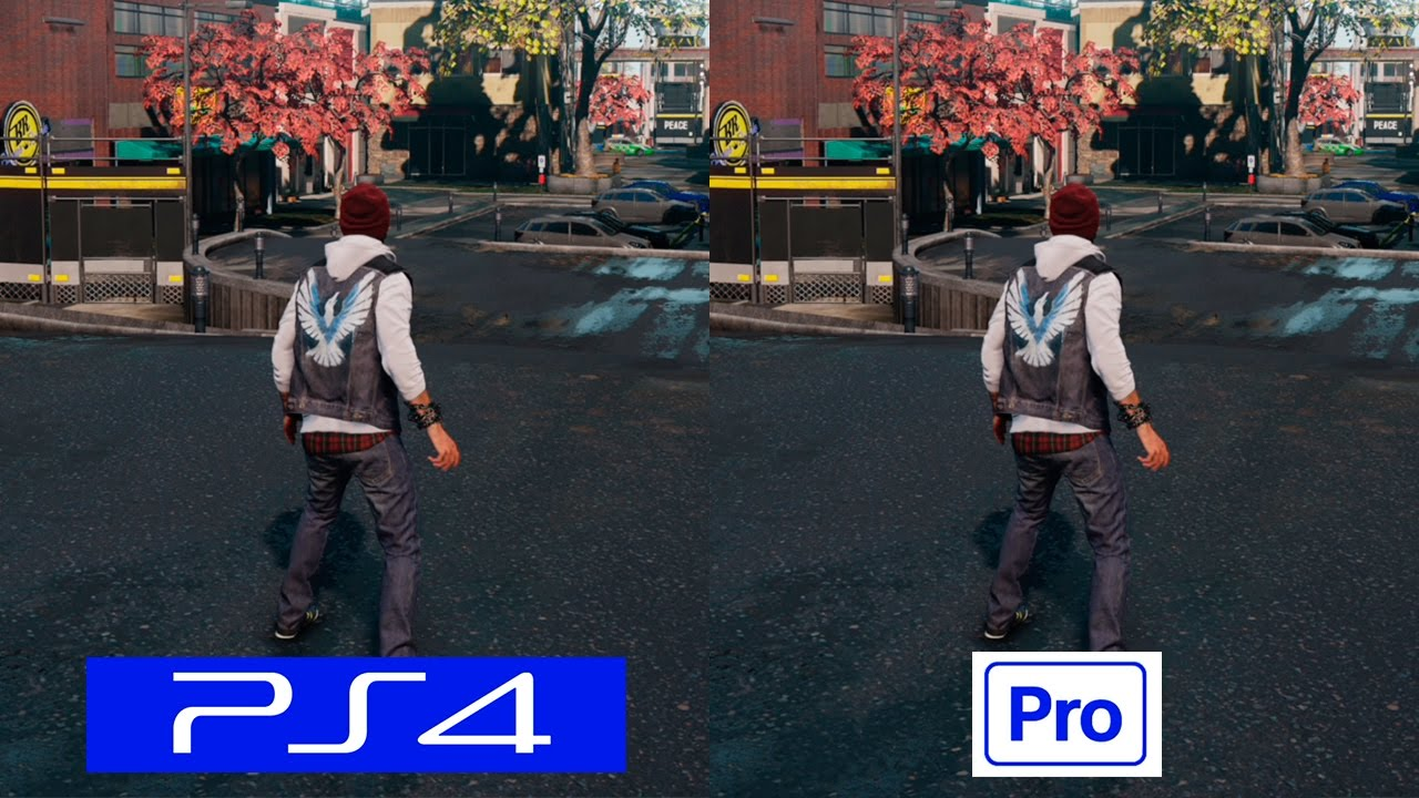 Infamous Second Son Ps4 Vs Ps4 Pro Graphics Comparison