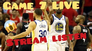 Game 7 Golden State Warriors vs Houston Rockets NBA playoffs West Finals live Listen only Harden MVP