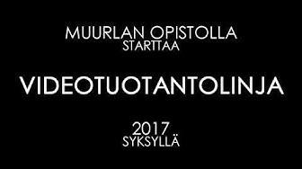 Muurlan Opiston videotuotantolinjan esittely