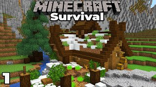 BRAND NEW VILLAGE : Minecraft 1.15 Survival Let's Play #1