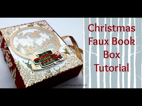 CHRISTMAS Faux Book Box TUTORIAL **REQUESTED** thumbnail