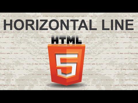 Create Horizontal Line In HTML 2015