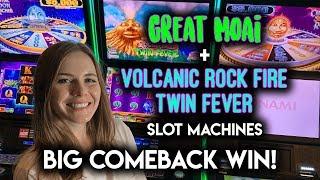HUGE COMEBACK WIN! Volcanic Rock Fire Twin Fever Slot Machine!!