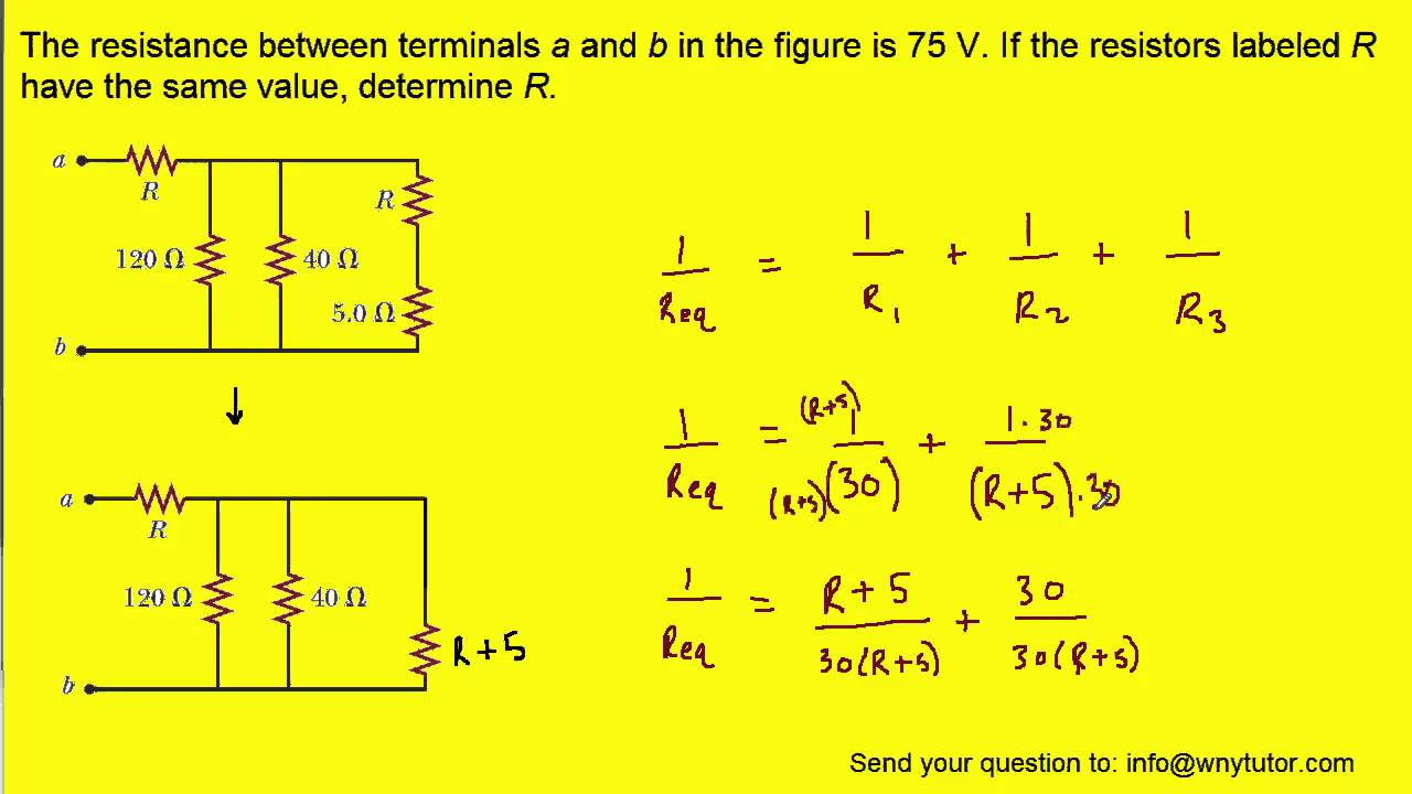 the resistance between terminals a and b in the figure is 75 if