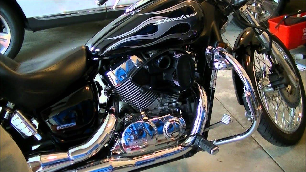Honda Shadow Spirit air filter, sub air cleaner, crankcase breather  YouTube