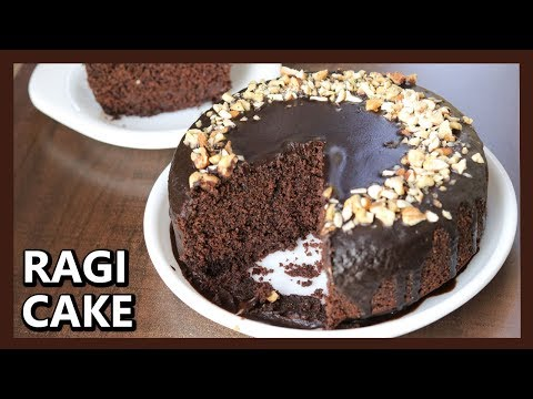 Eggless Ragi Chocolate Cake | How To Make Cake In Pressure Cooker | Healthy Ragi Cake with Jaggery
