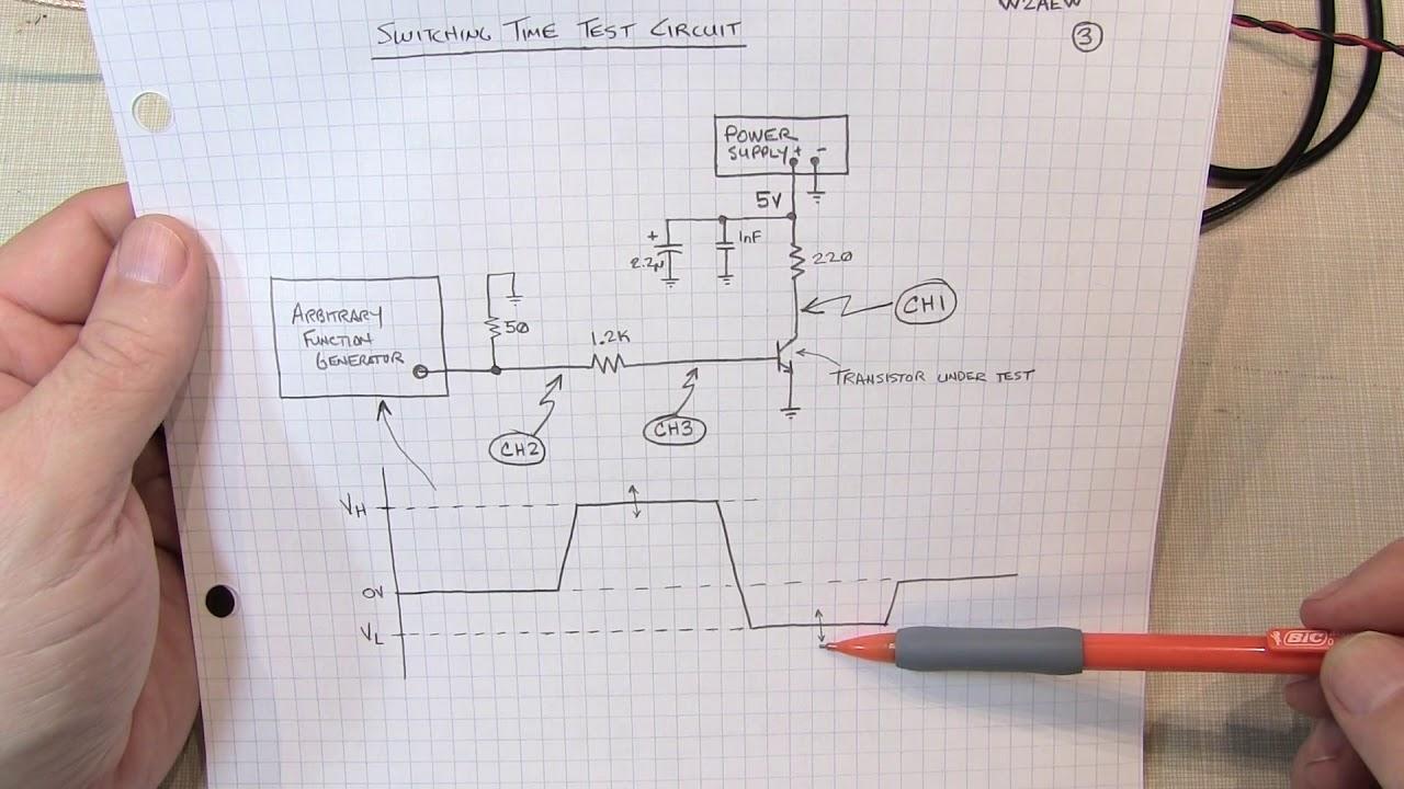 281 Bipolar Transistor Switching Time Measurement Youtube Fm Tracking Transmitter Circuit Diagram