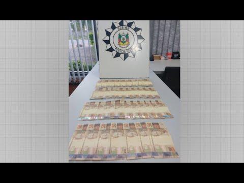 Polícia Civil de Cachoeira do Sul apreende mais de R$ 1 mil em notas falsas