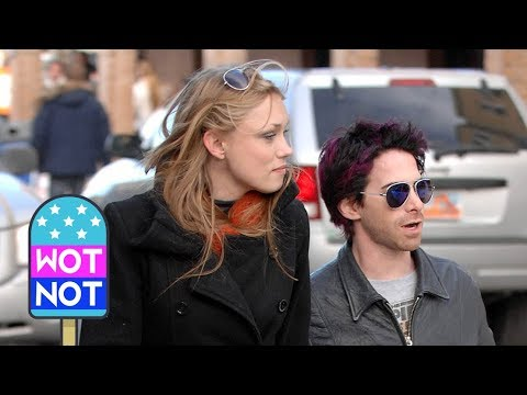Seth Green Has Purple Hair As He Steps Out With Wife & Fellow Robot Chicken Voice Clare Grant