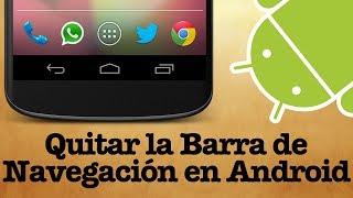 Como Esconder la Barra de Navegación de Android