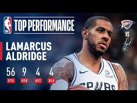 LaMarcus Aldridge Records A New CAREER HIGH 56 Points | January 10, 2019