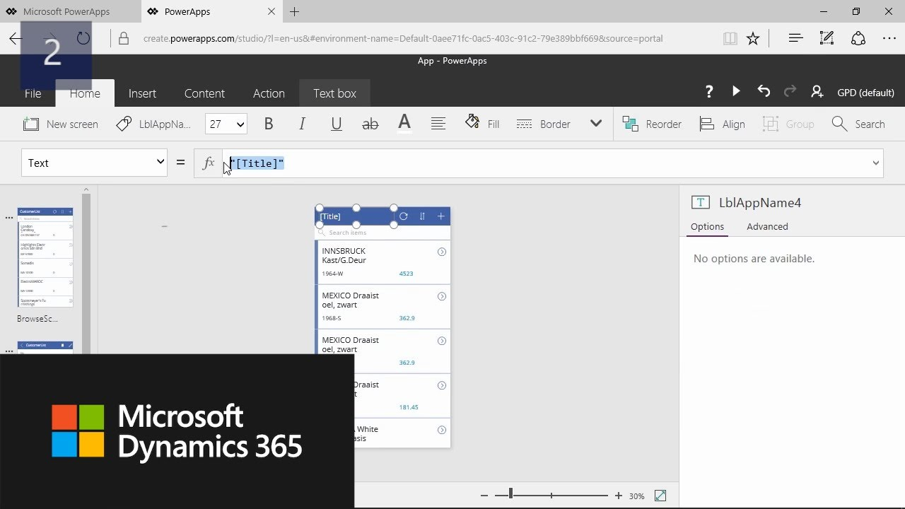 How Do I: create PowerApps with data from Microsoft Dynamics NAV