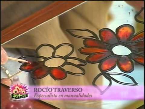 Pintura vitral sobre espejo con Rocio Traverso  YouTube
