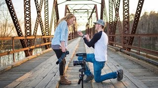 She thought it was just a normal photo shoot...until he got down on one knee!