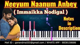 Neeyum Naanum Anbe PIANO NOTES | Imaikka Nodigal | HipHop Tamizha | CHORDS | EASY TUTORIAL | COVER