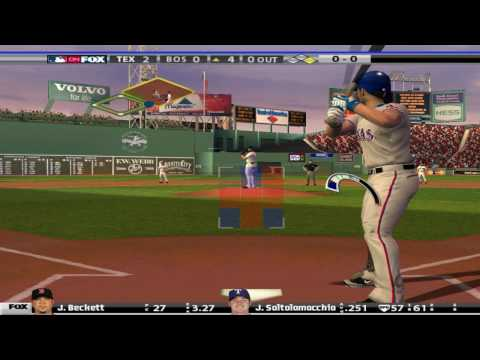 This is about two innings playing MVP Baseball 2005 for the PC online